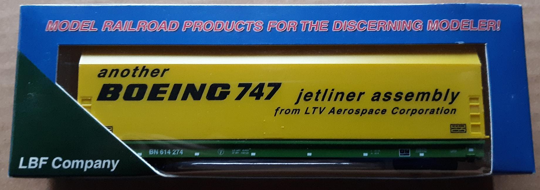 N Scale - LBF Company - 5603-2 - Flatcar, 62 Foot, Skybox - Burlington Northern - 614274