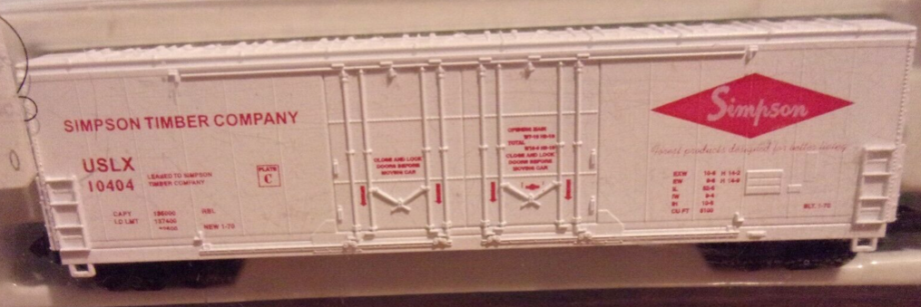 N Scale - The Freight Yard - 9901A - Boxcar, 53 Foot, Evans Double Plug Door - Simpson - 10404