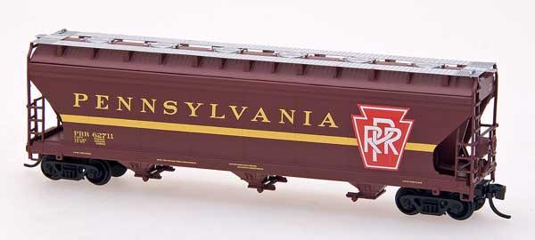 N Scale - InterMountain - NSE INT 11-07 - Covered Hopper, 3-Bay, ACF 4650 - Pennsylvania - 62711