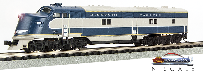 N Scale - Broadway Limited - 1662 - Locomotive, Diesel, EMD E6 - Missouri Pacific - 7003