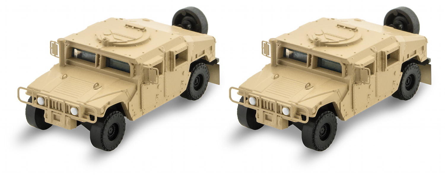 N Scale - Micro-Trains - 499 45 951 -  Humvee® - Undecorated - 2-Pack