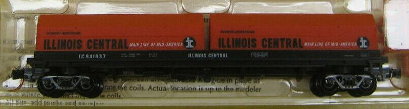 N Scale - Red Caboose - RN-17641-4 - Gondola, Steel Coil, Evans 48 Foot - Illinois Central - 941037