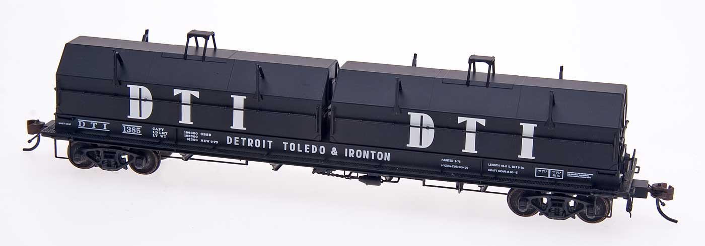 N Scale - Red Caboose - RN-17609-5 - Gondola, Steel Coil, Evans 48 Foot - Detroit Toledo & Ironton - 1390