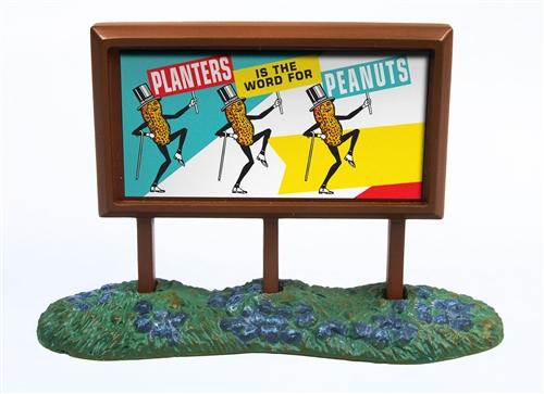N Scale - Classic Metal Works - 21002 - Roadside Billboard - Planters - Planters Peanuts