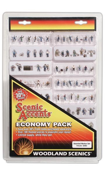 N Scale - Woodland Scenics - A2062 - Various - People - Workers