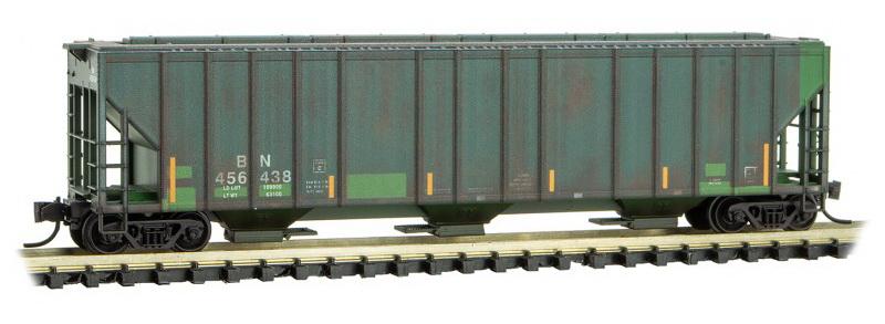 N Scale - Micro-Trains - 099 51 230 - Covered Hopper, 3-Bay, Evans 4780 - Burlington Northern - 456438