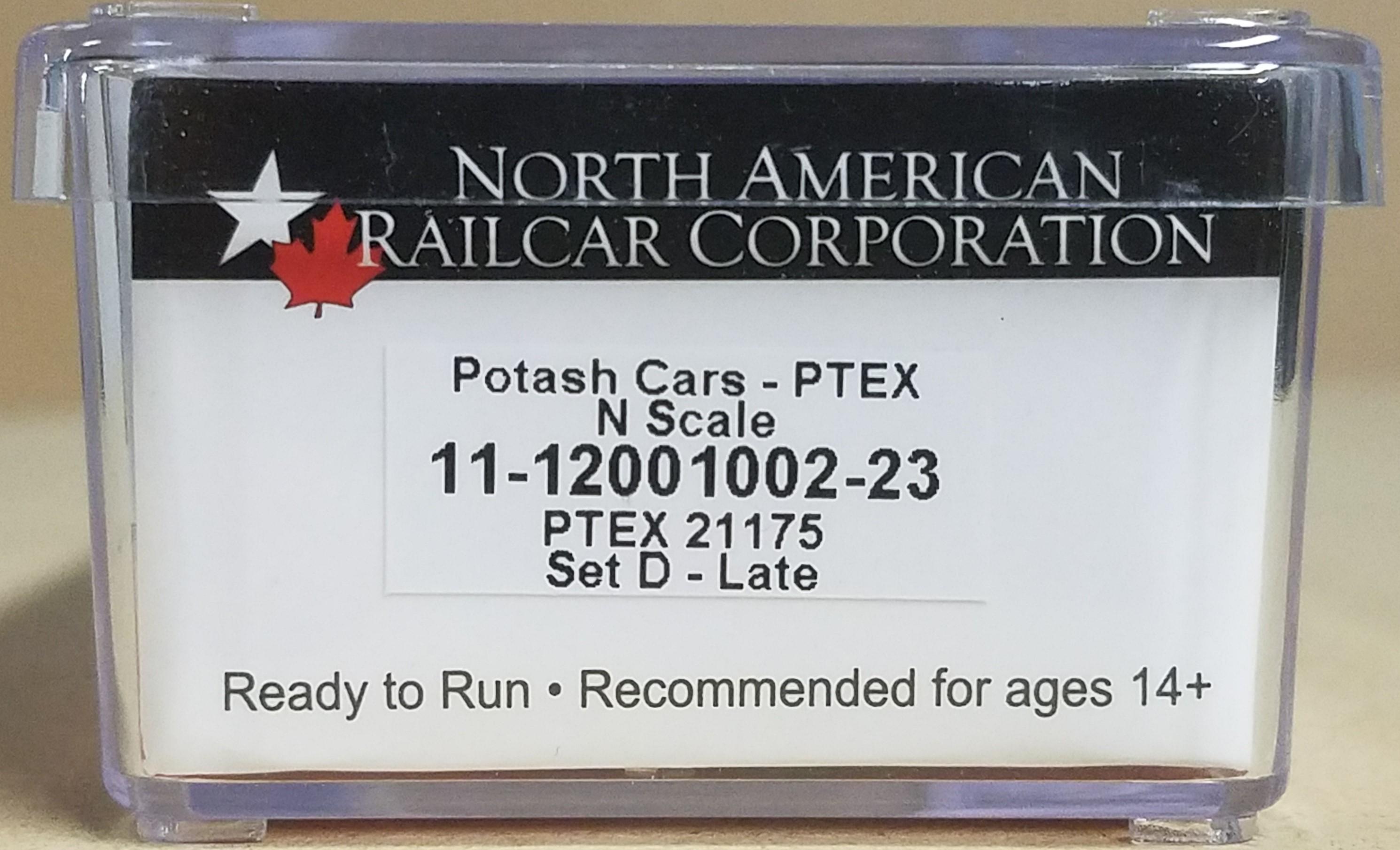 N Scale - North American Railcar - 11-12001002-23 - Covered Hopper, 3-Bay, Potash - Canpotex - 21175