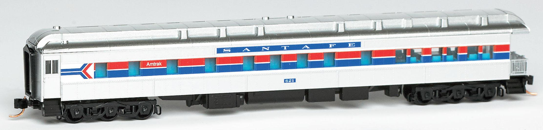 N Scale - Micro-Trains - 144 95 029 - Passenger Car, Heavyweight, Pullman, Observation - Santa Fe - 621