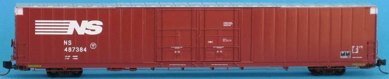 N Scale - Trainworx - 2913-04 - Box Car, 86 Foot, Auto Parts 4-Door - Norfolk Southern - 487390