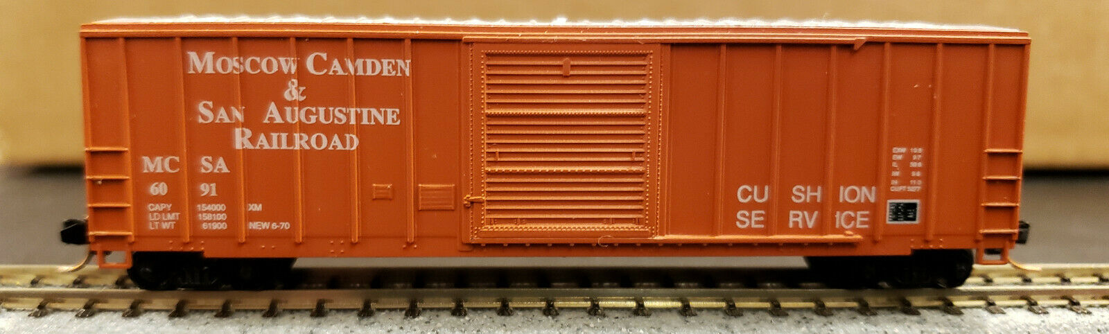 N Scale - Roundhouse - 8858 - Boxcar, 50 Foot, FMC, 5347 - Moscow Camden & San Augustine - 6091