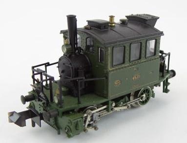N Scale - Minitrix - 12017 - Locomotive, Steam, 0-4-0, Tank PtL 2/2 - K.Bay.Sts.B. (Royal Bavarian State Railroad) - 4531