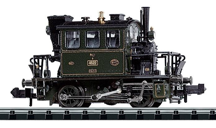 N Scale - Minitrix - 12114 - Locomotive, Steam, 0-4-0, Tank PtL 2/2 - K.Bay.Sts.B. (Royal Bavarian State Railroad) - 4522