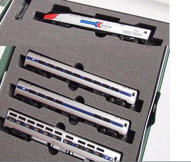 N Scale - Kato USA - 106-6286-3 - P42 Amfleet Consist - Amtrak - 145, 25079, 28004, 62025