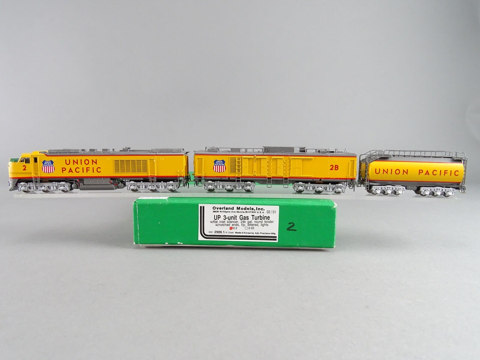 N Scale - Overland Models - 2909.1 - Locomotive, Gas Turbine-Electric - Union Pacific - 2