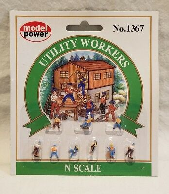 N Scale - Model Power - 1367 - Utility Workers - People
