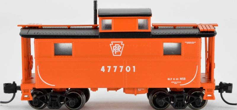 N Scale - Bowser - 38086 - Caboose, Cupola, Steel, NE - Pennsylvania - 47742