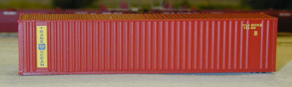 N Scale - Deluxe Innovations - 5411 - Container, 40 Foot, Corrugated, Dual Logo Panel - Trans Ocean Container Corp - 2-Pack