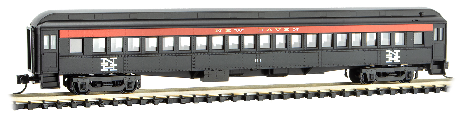 N Scale - Micro-Trains - 160 00 380 - Passenger Car, Heavyweight, Pullman - New Haven - 6818