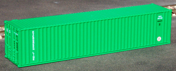 N Scale - Deluxe Innovations - 5240 - Container, 40 Foot, Corrugated, Dry - Evergreen - 2-Pack