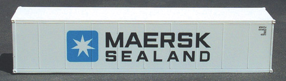 N Scale - Deluxe Innovations - 4260 - Container, 40 Foot, Smoothside, Reefer - Maersk Sealand - 2-Pack