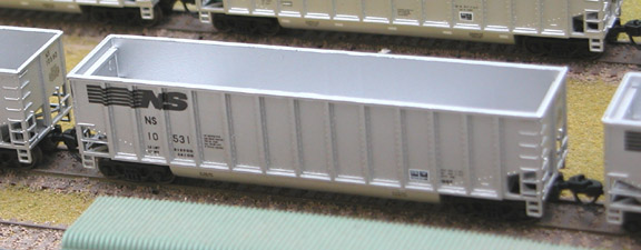 N Scale - Deluxe Innovations - 120121 - Gondola, Bathtub, Johnstown Twin Tub - Norfolk Southern