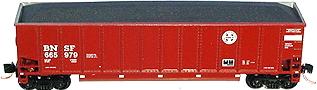 N Scale - LBF Company - 5439 - Gondola, Bathtub, Trinity Rotary  - Burlington Northern Santa Fe - 666000