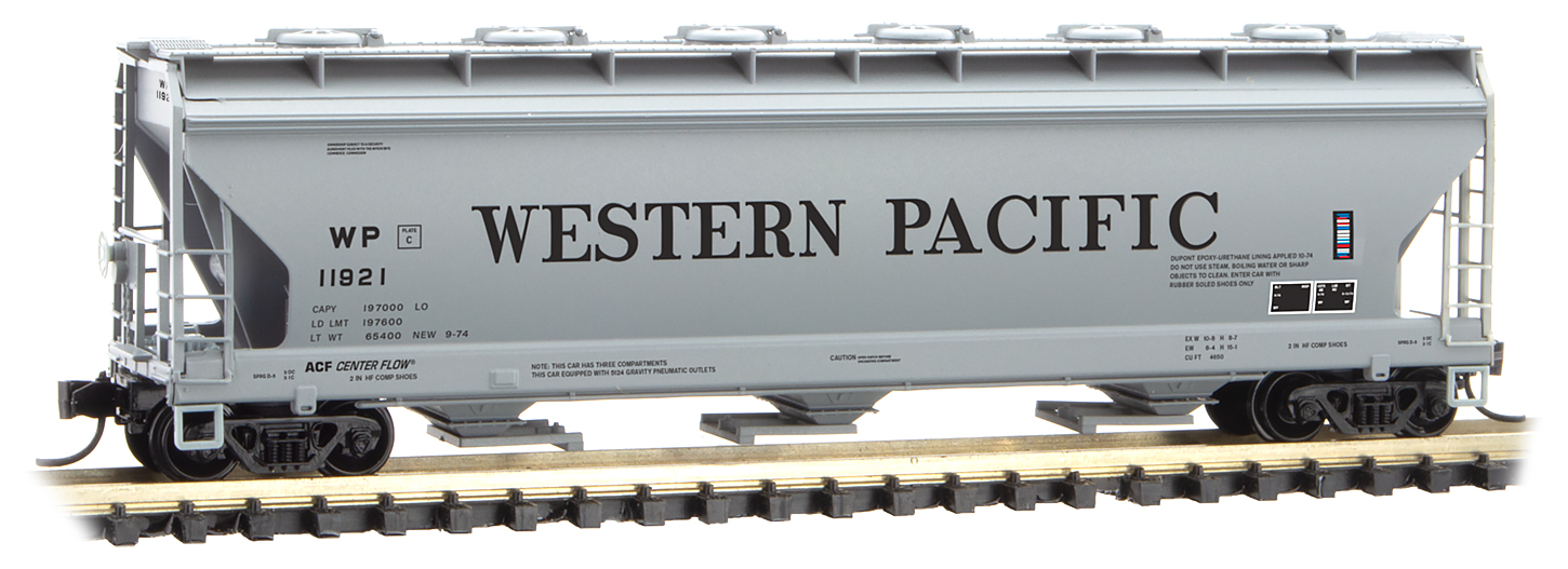 N Scale - Micro-Trains - 093 00 170 - Covered Hopper, 3-Bay, ACF 4650 - Food Machinery Corporation - 11921