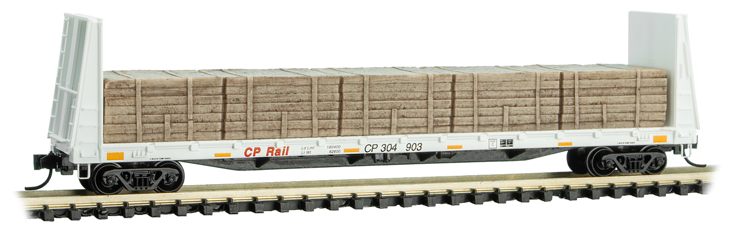 N Scale - Micro-Trains - 054 00 270 - Flatcar, Bulkhead - Canadian Pacific - 304903