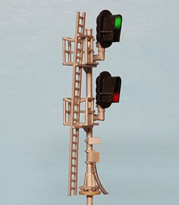 N Scale - Layout Dynamics - 5651-L - double head D-Type signal - Undecorated - Signal