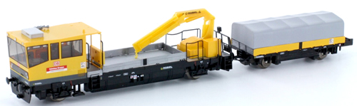 N Scale - Hobbytrain - H23561 - Maintenance of Way Equipment, Robel RoRunner level 2 - Deutsche Bahn