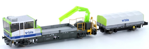 N Scale - Hobbytrain - H23562 - Maintenance of Way Equipment, Robel RoRunner level 2 - BLS (Bern–Lötschberg–Simplon)