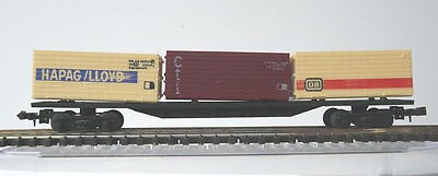 N Scale - Lima - 485 - Flatcar, 20M, Container Sgns - Hapag-Lloyd