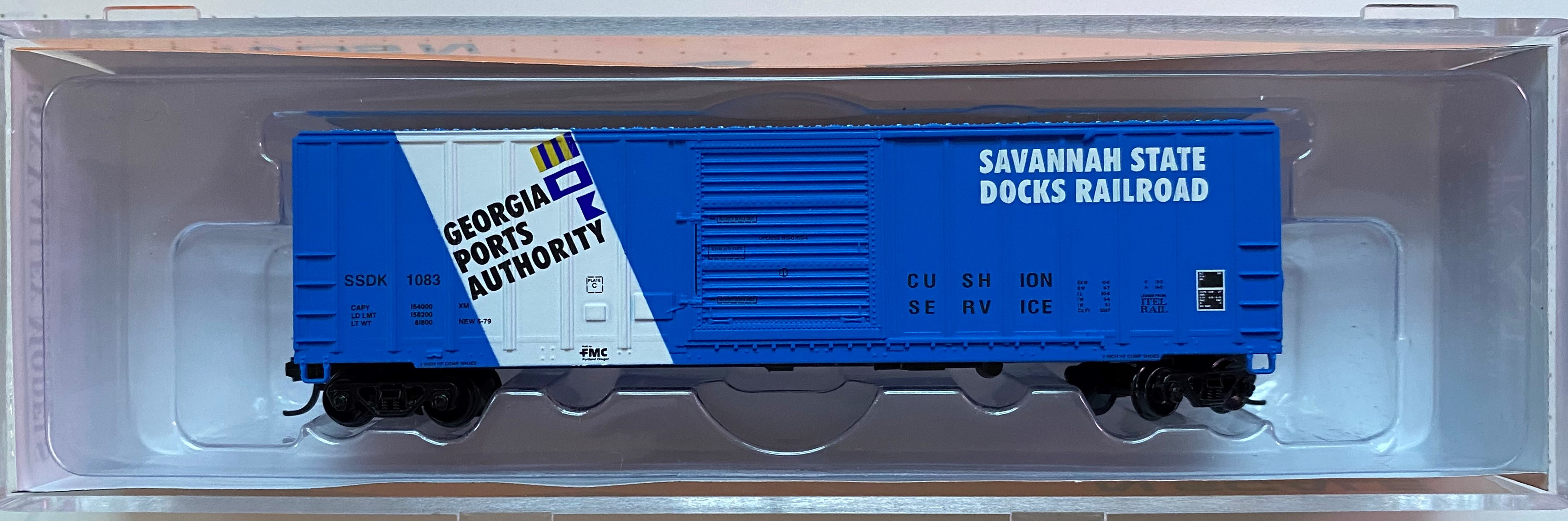 N Scale - Fox Valley - 80096 - Boxcar, 50 Foot, FMC, 5347 - Savanah State Docks Railroad - 1083