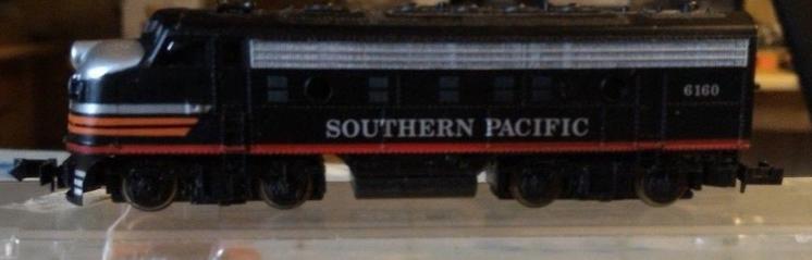 N Scale - Bev-Bel - 15007 - Locomotive, Diesel, EMD F7 - Southern Pacific - 6160