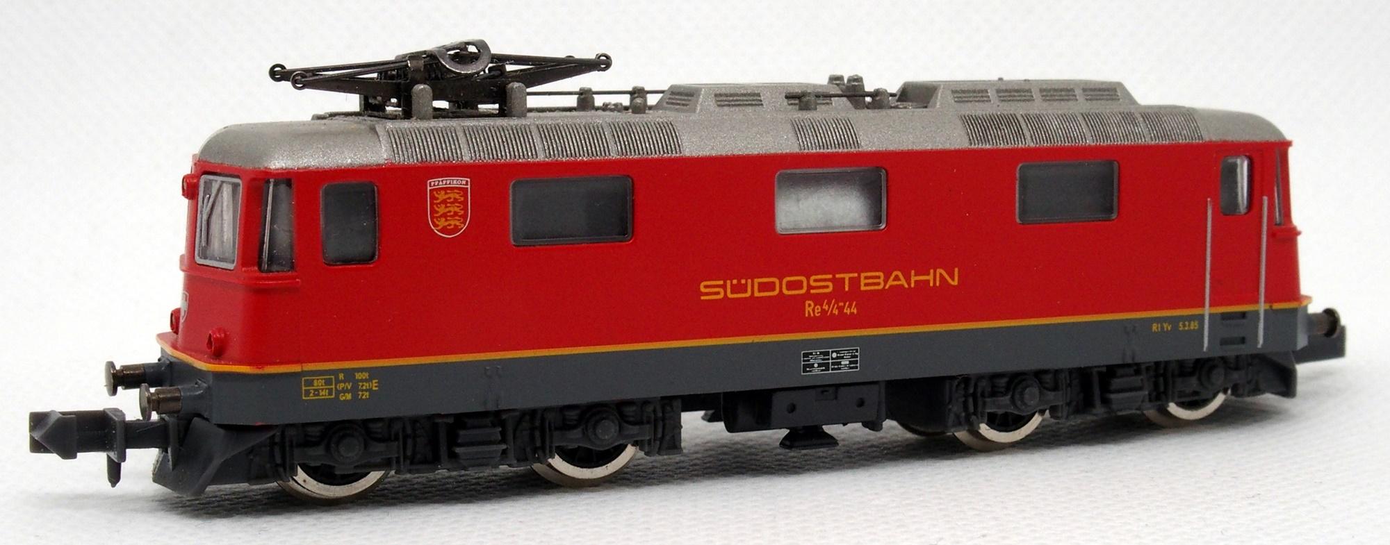 N Scale - De Agostini - Ferrovia del Gottardo-A - Locomotive, Electric, Re 4/4 II - Südostbahn - 44
