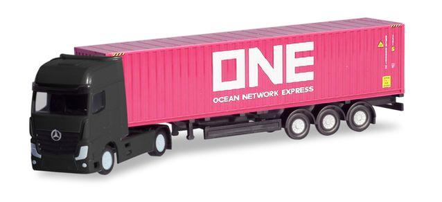 N Scale - Herpa - 066792 - Semi Tractor Trailer - ONE, Ocean Network Express