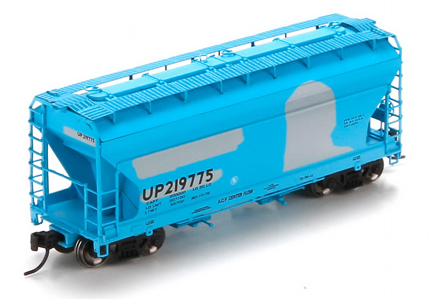 N Scale - Athearn - 23439 - Covered Hopper, 2-Bay, ACF Centerflow - Union Pacific - 219775