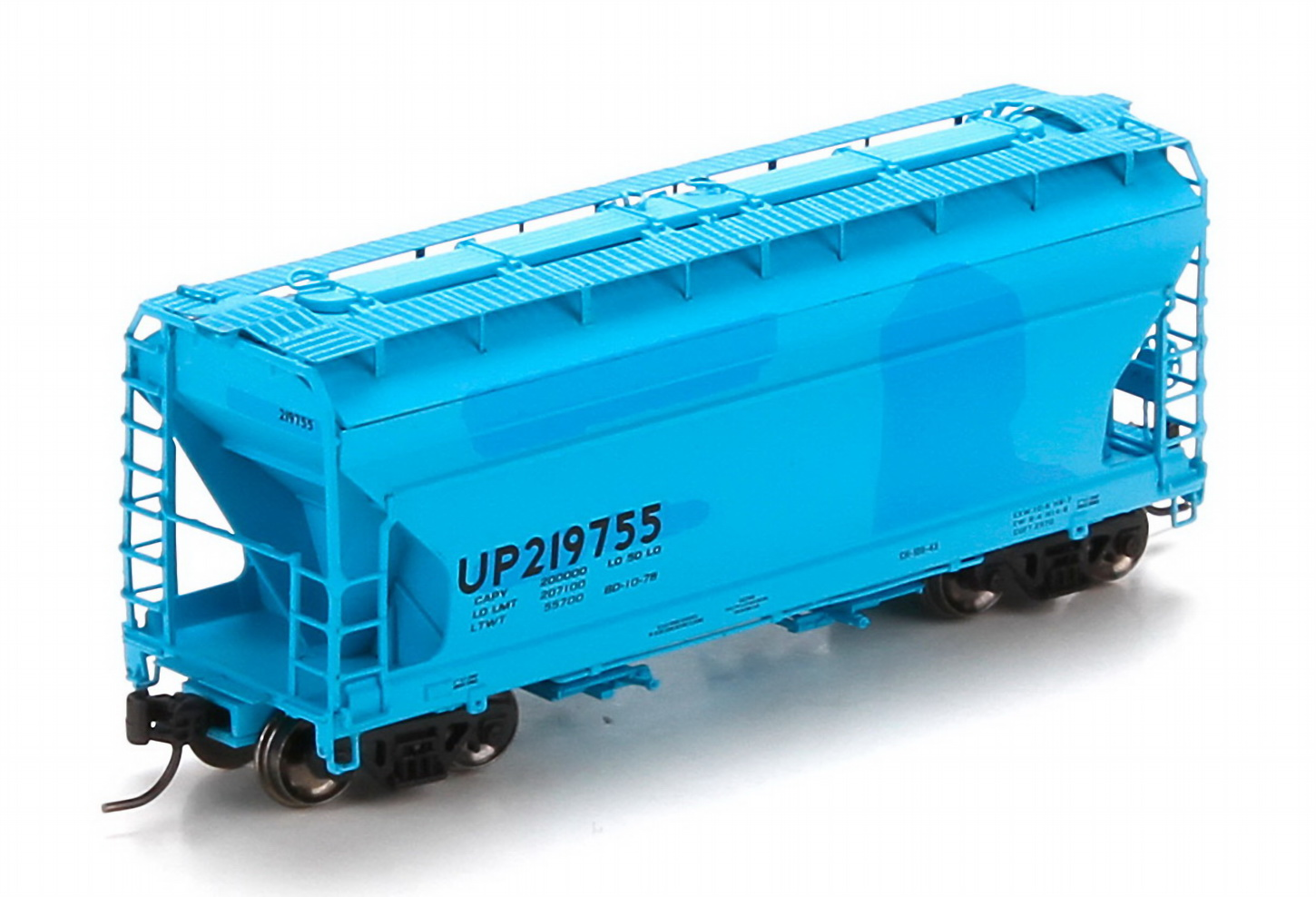N Scale - Athearn - 23438 - Covered Hopper, 2-Bay, ACF Centerflow - Union Pacific - 219755