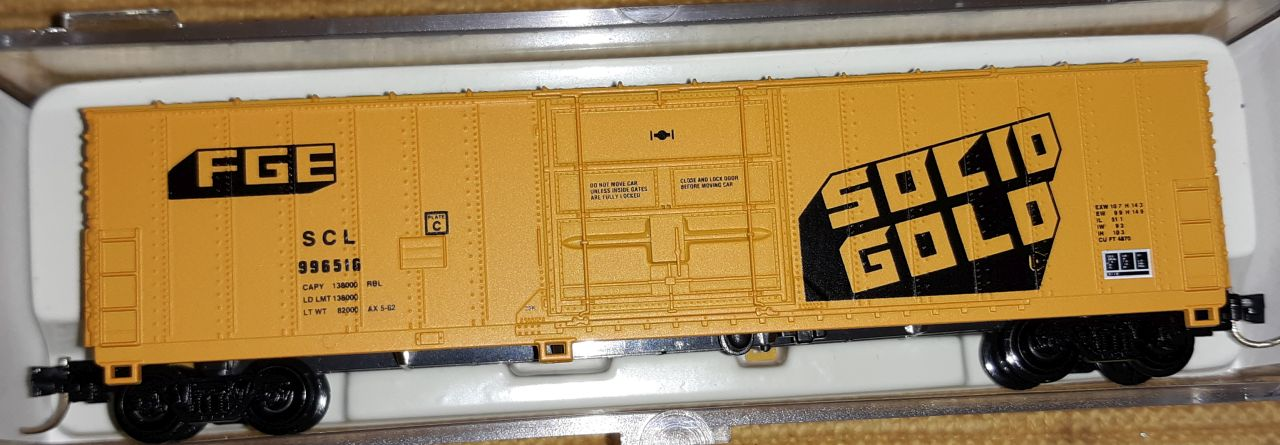 N Scale - Atlas - 5840-A - Boxcar, 50 Foot, Fruit Growers Express - Seaboard Coast Line - 996612