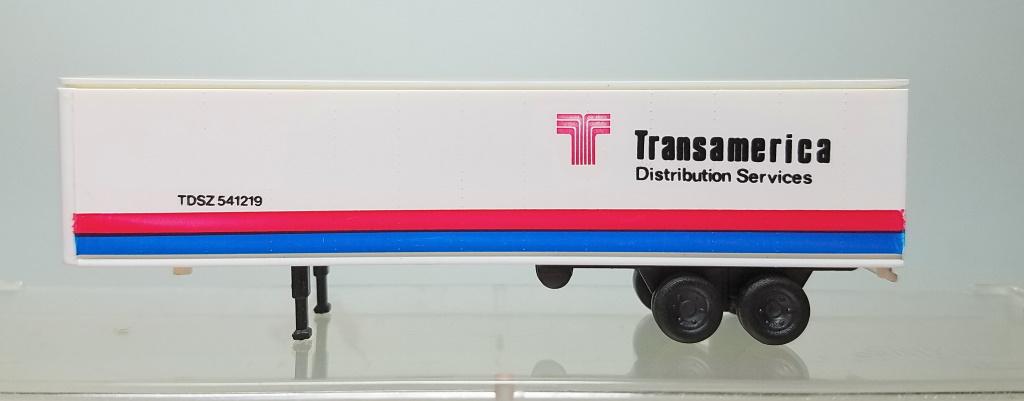 N Scale - Con-Cor - 0004-005104 - Trailer, 40 Foot, Box - Transamerica Transportation - 540321,540487,541219