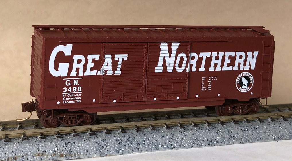 N Scale - Micro-Trains - NSC 97-73 - Boxcar, 40 Foot, PS-1 - Great Northern - 3488