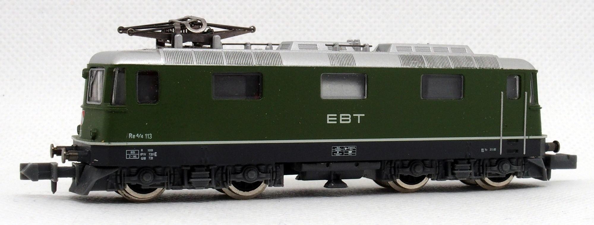 N Scale - De Agostini - Ferrovia del Gottardo-B - Locomotive, Electric, Re 4/4 II - Emmental-Burgdorf-Thun-Bahn - 113