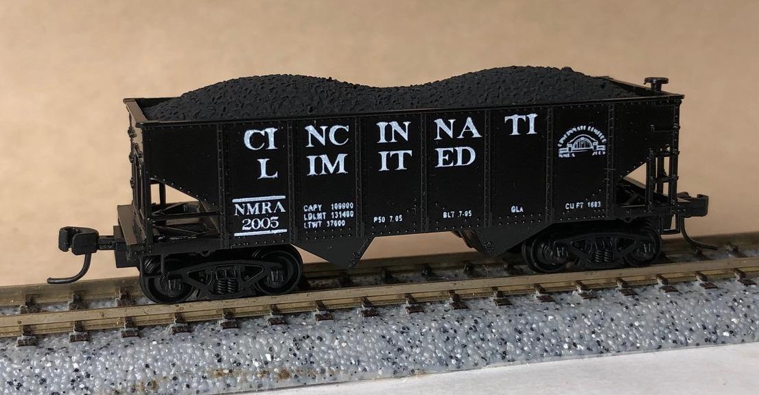 N Scale - Bowser - 2005 NMRA - Open Hopper, 2-Bay, GLa - NMRA - 2005
