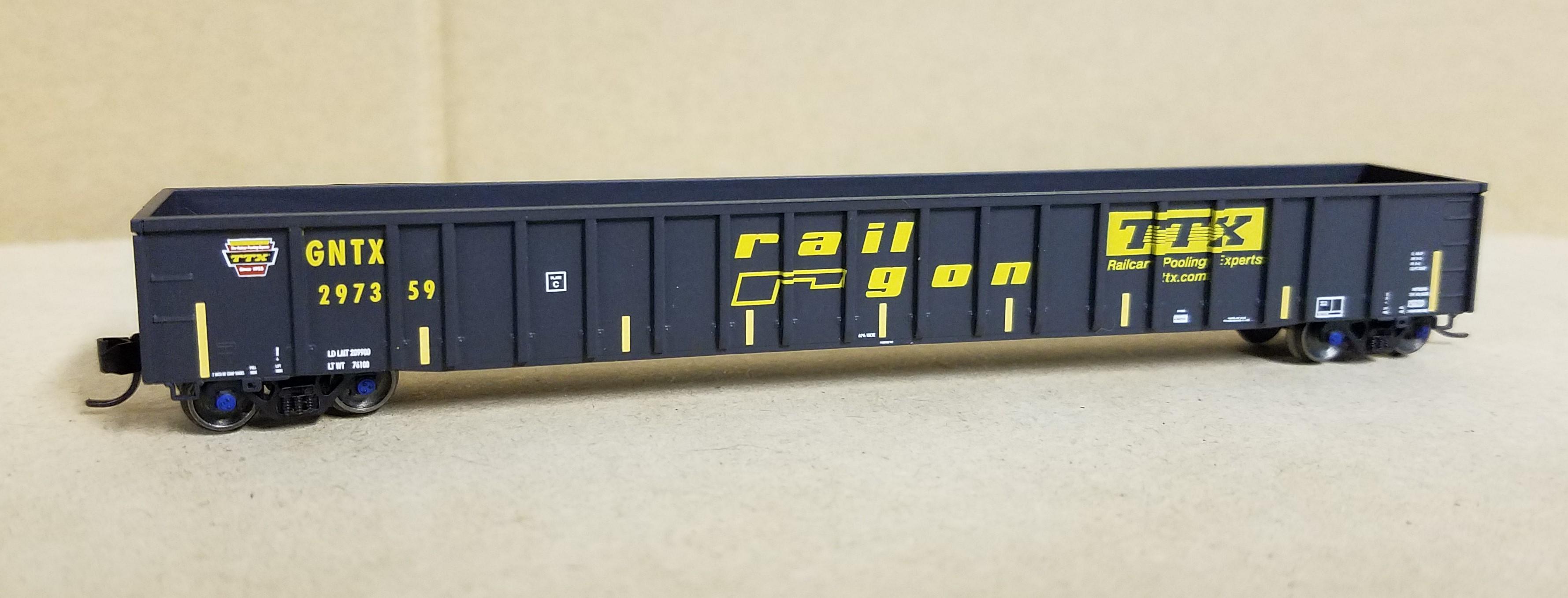 N Scale - ExactRail - EN-51104-9 - Gondola, 65 Foot, Mill - Trailer Train - 297359