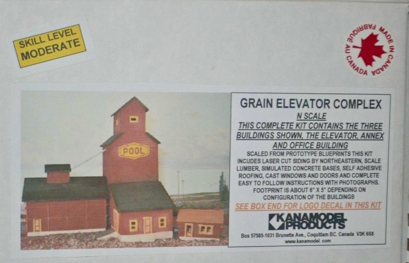 N Scale - KanaModel - 6024 - Grain Elevator - Manitoba Government - Grain Elevator Complex