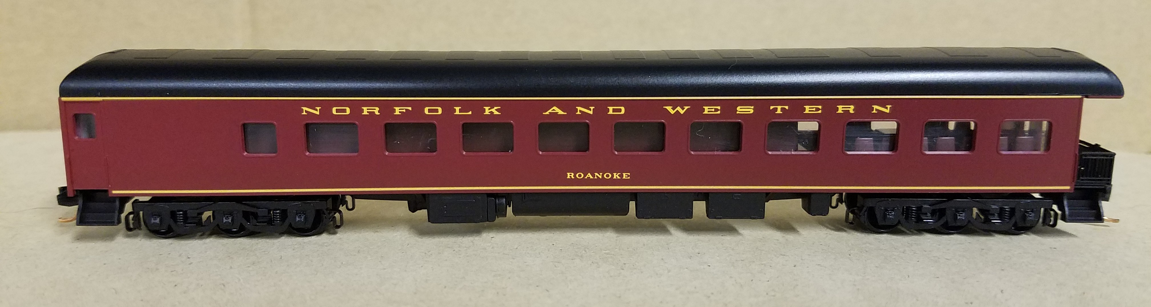 N Scale - Micro-Trains - NSE MTL 14-13 - Passenger Car, Heavyweight, Pullman, Observation - Norfolk & Western