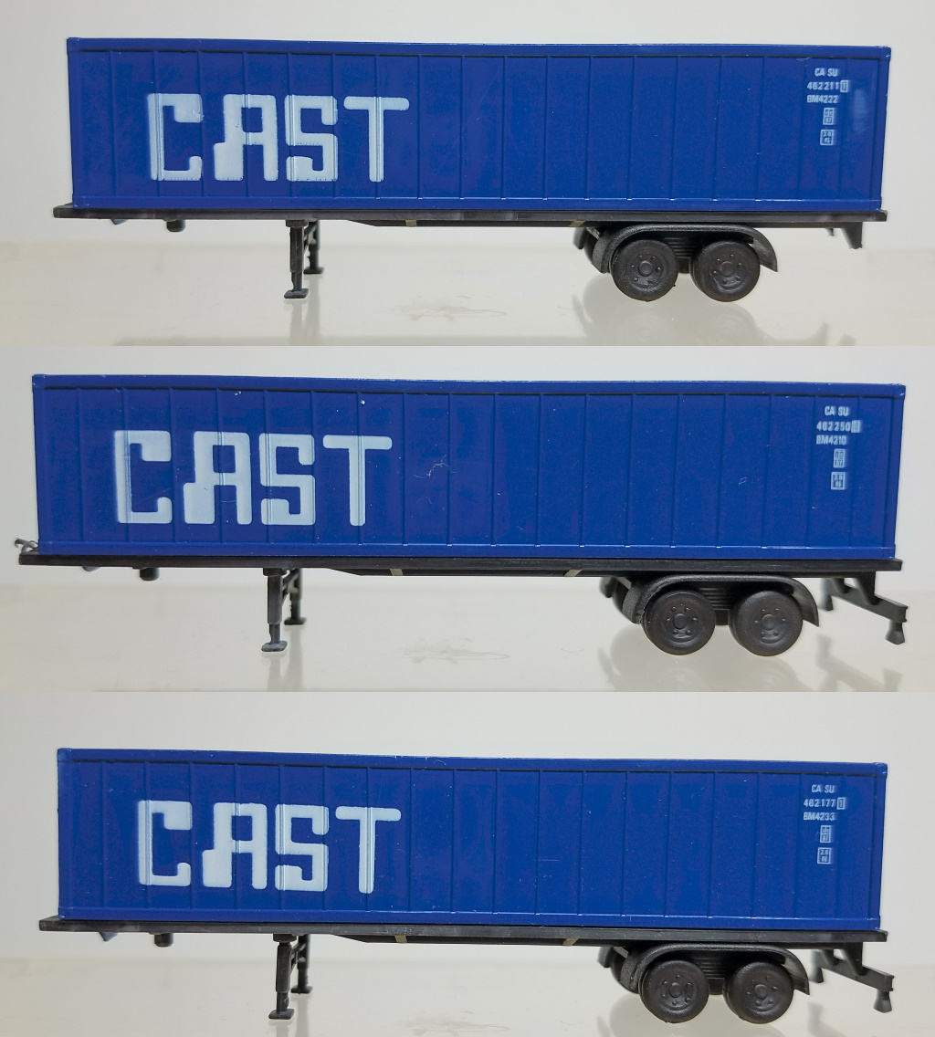 N Scale - Con-Cor - 0004-005109 - Trailer, 40 Foot, Box - CAST Container Line - 462250,462177,462211