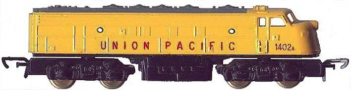 N Scale - Lone Star - EL.62A - Locomotive, Diesel, EMD F7 - Union Pacific - 1402A