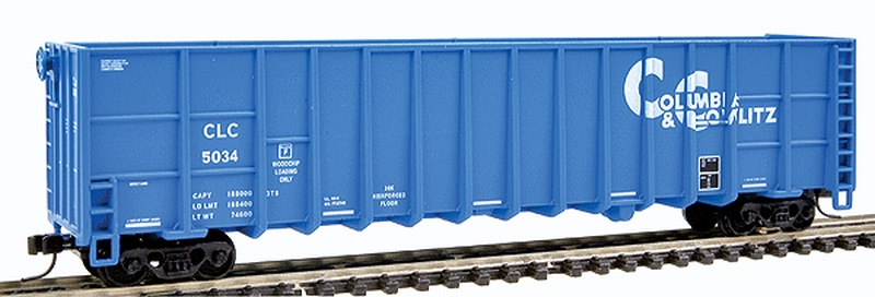 N Scale - Deluxe Innovations - 105203 - Gondola, Woodchip - Columbia & Cowlitz - 3-Pack