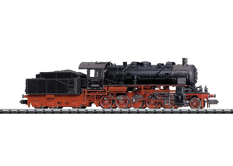 N Scale - Minitrix - 16581 - Locomotive, Steam, 2-10-0 DR 58 - Deutsche Bahn - 581836
